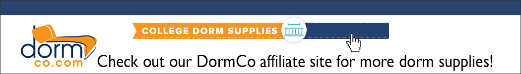 Check out our DormCo affiliate site for more dorm supplies!