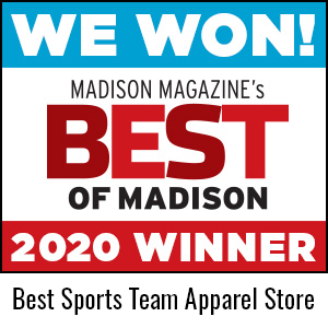 We Won! Madison Magazine's Best of Madison 2020. Best Sports Team Apparel Store.