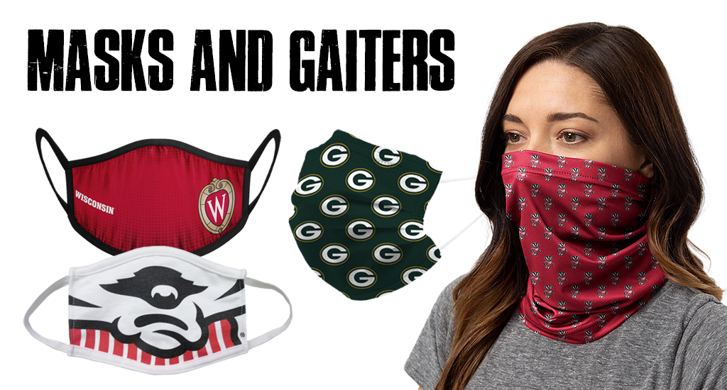 Stay Safe, Badgers. Wisconsin Cotton Face Masks.